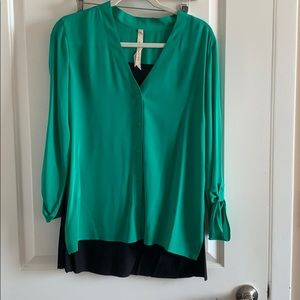 Green and black Bailey 44 blouse